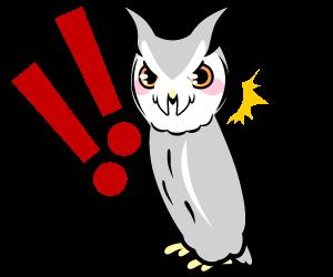 フクロウの擬態