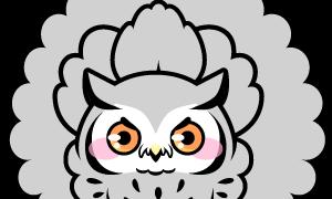 フクロウの威嚇
