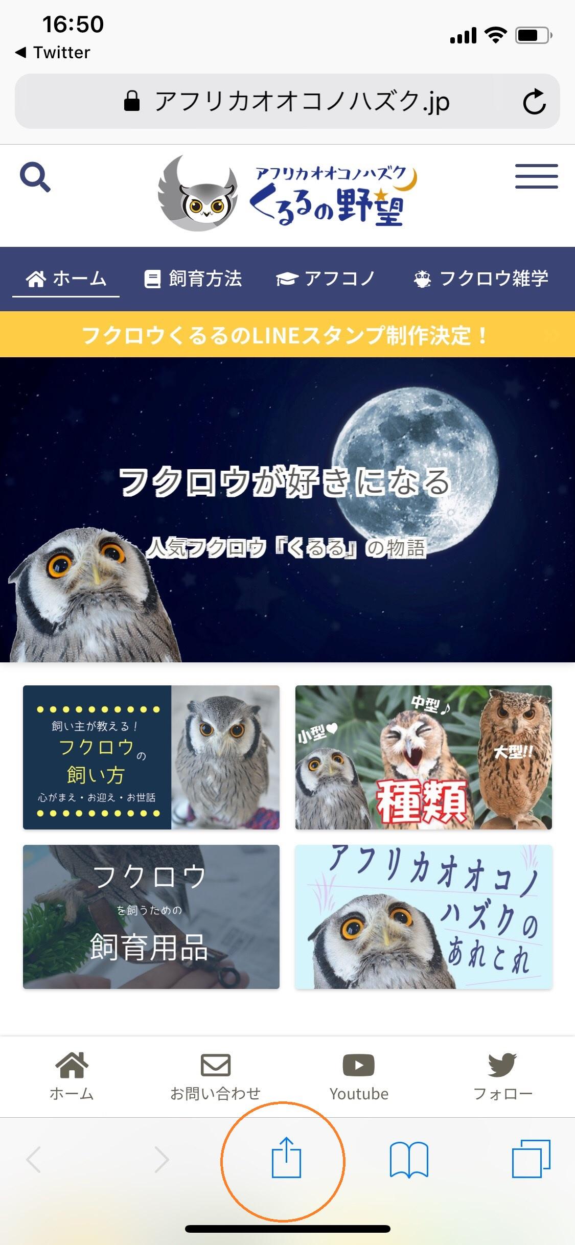 ウェブサイトをiPhoneのホーム画面へ追加
