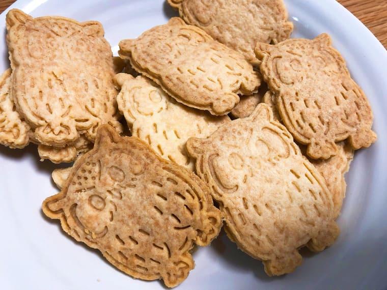 フクロウ型のクッキー